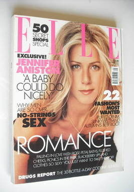 <!--2001-09-->British Elle magazine - September 2001 - Jennifer Aniston cov