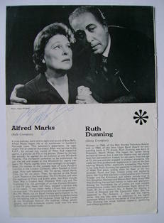 Alfred Marks autograph