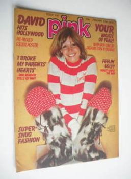 Pink magazine - 17 January 1976 - Julie Peasgood cover