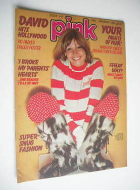 Pink magazine - 17 January 1976 - Julie Peasgood cover