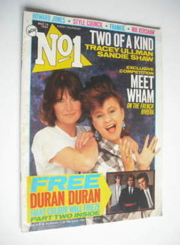 No 1 magazine - Tracey Ullman and Sandie Shaw cover (19 May 1984)