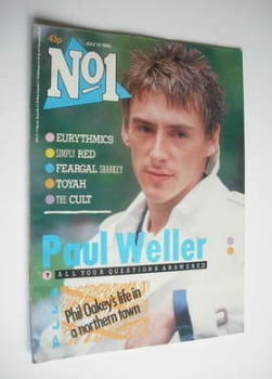 No 1 magazine - Paul Weller cover (13 July 1985)