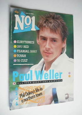 <!--1985-07-13-->No 1 magazine - Paul Weller cover (13 July 1985)