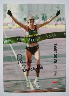 Paula Radcliffe - autographed photo
