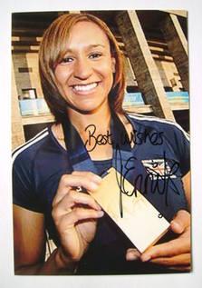 Jessica Ennis autograph