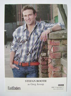 Stefan Booth autograph (ex EastEnders actor)