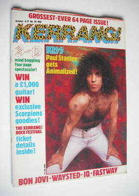 <!--1984-10-04-->Kerrang magazine - Paul Stanley cover (4-17 October 1984 -