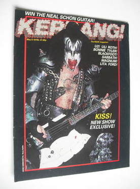 <!--1983-05-05-->Kerrang magazine - Gene Simmons cover (5-18 May 1983 - Iss