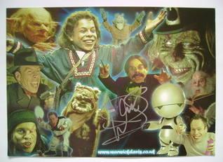 Warwick Davis autograph