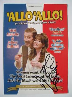 Vicki Michelle autographed theatre flyer