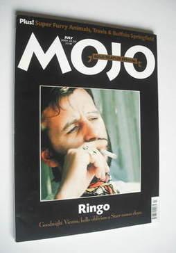 <!--2001-07-->MOJO magazine - Ringo Starr cover (July 2001 - Issue 92)