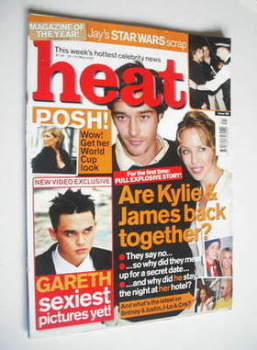 Heat magazine - James Gooding and Kylie Minogue cover (25-31 May 2002 - Issue 169)