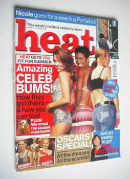 Heat magazine - Amazing Celeb Bums cover (6-12 April 2002 - Issue 162)