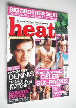 <!--2003-10-25-->Heat magazine - Celeb six-packs cover (25-31 October 2003