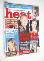 <!--2003-01-11-->Heat magazine - Amanda Holden and Les Dennis cover (11-17 January 2003 - Issue 201)