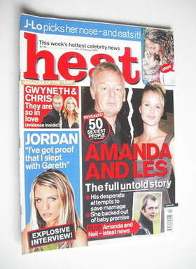 <!--2003-01-11-->Heat magazine - Amanda Holden and Les Dennis cover (11-17