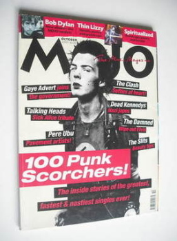 MOJO magazine - Sid Vicious cover (October 2001 - Issue 95)
