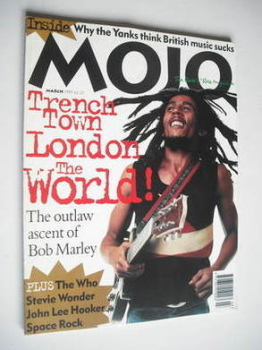MOJO magazine - Bob Marley cover (March 1995 - Issue 16)