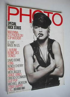 PHOTO magazine - March 1991 - Madonna cover