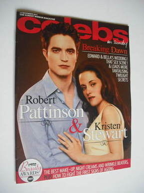 <!--2011-11-13-->Celebs magazine - Robert Pattinson and Kristen Stewart cov