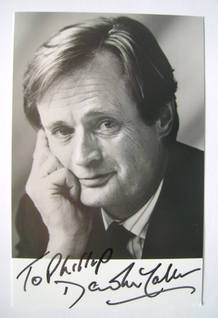 David McCallum autograph (hand-signed photograph, dedicated)