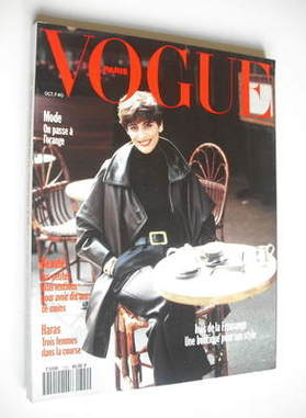 <!--1991-10-->French Paris Vogue magazine - October 1991 - Ines de la Fress