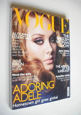 <!--2011-10-->British Vogue magazine - October 2011 - Adele cover