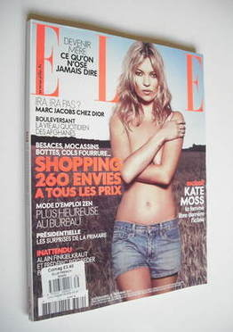 <!--2011-09-23-->French Elle magazine - 23 September 2011 - Kate Moss cover