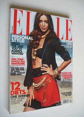 <!--2011-10-->US Elle magazine - October 2011 - Miranda Kerr cover