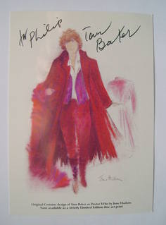 Tom Baker autographed picture card