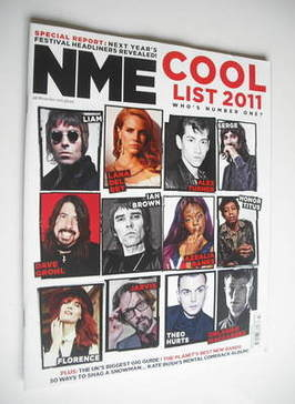 <!--2011-11-26-->NME magazine - The Cool List 2011 (26 November 2011)