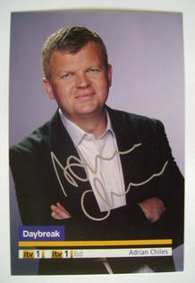 Adrian Chiles autograph (hand-signed photograph)