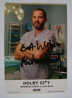 Andrew Lewis autograph (ex-Holby City actor)