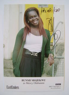 Bunmi Mojekwu autographed photo (ex EastEnders actor)