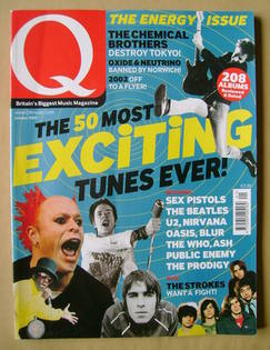 Q magazine - The 50 Most Exciting Tunes Ever! cover (January 2002)