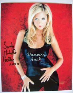Sarah Michelle Gellar autograph