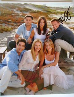 Matthew Perry and Lisa Kudrow autographs