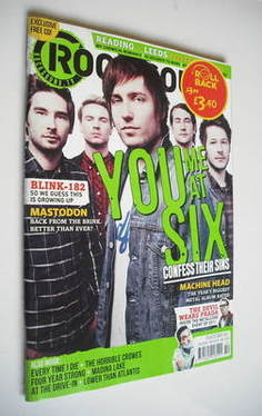 <!--2011-10-->Rock Sound magazine - You Me At Six cover (October 2011)