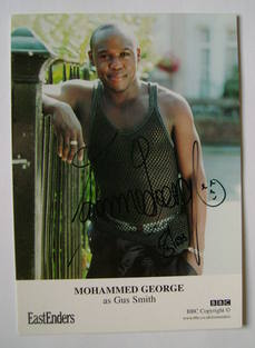 Mohammed George autograph (ex EastEnders actor)