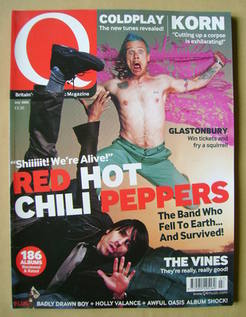 <!--2002-07-->Q magazine - Red Hot Chili Peppers cover (July 2002)