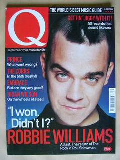 <!--1998-09-->Q magazine - Robbie Williams cover (September 1998)