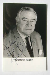 George Baker autograph (hand-signed photograph, dedicated)