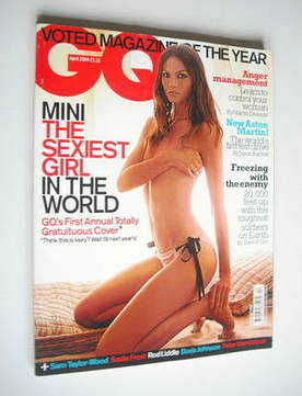 <!--2004-04-->British GQ magazine - April 2004 - Mini Arden cover