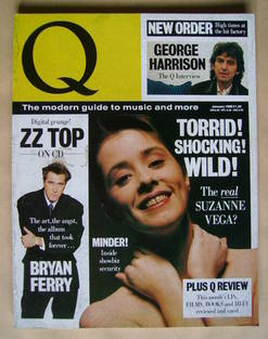 Q magazine - Suzanne Vega cover (January 1988)