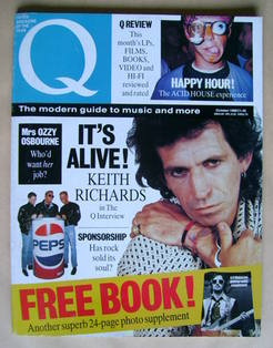 Q magazine - Keith Richards cover (October 1988)