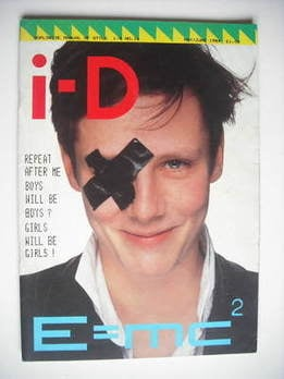 i-D magazine - Sophie Hicks cover (May/June 1984 - No 16)