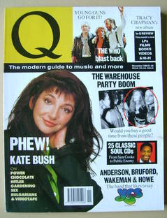 Q magazine - Kate Bush cover (November 1989)