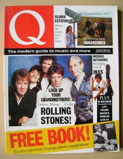 Q magazine - The Rolling Stones cover (October 1989)