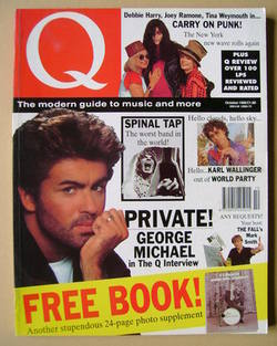 Q magazine - George Michael cover (October 1990)