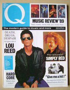 Q magazine - Lou Reed cover (February 1989)